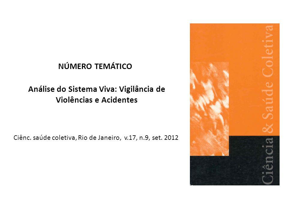 Análise do Sistema Viva: Vigilância de Violências e Acidentes Ciênc. saúde coletiva, Rio de Janeiro, v.17, n.9, set. 2012 NÚMERO TEMÁTICO