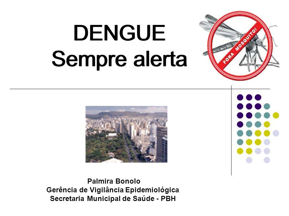 DENGUE Sempre alerta Palmira Bonolo Gerência de Vigilância Epidemiológica Secretaria Municipal de Saúde - PBH