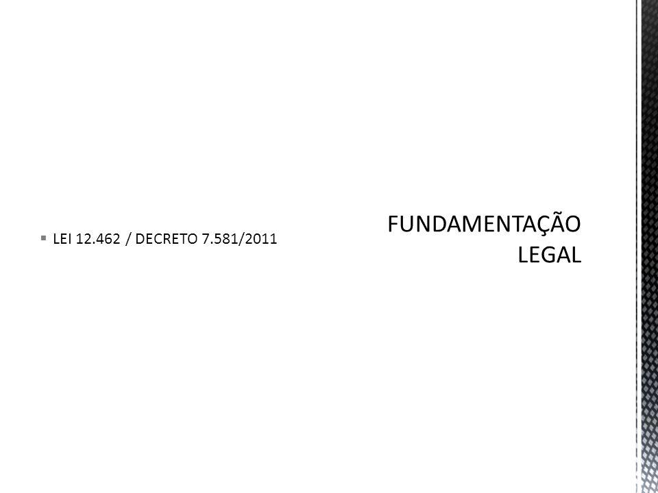  LEI 12.462 / DECRETO 7.581/2011