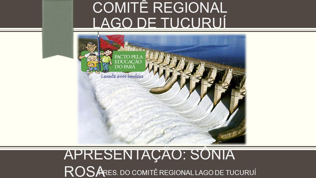 COMITÊ REGIONAL LAGO DE TUCURUÍ APRESENTAÇÃO: SÔNIA ROSA PRES. DO COMITÊ REGIONAL LAGO DE TUCURUÍ