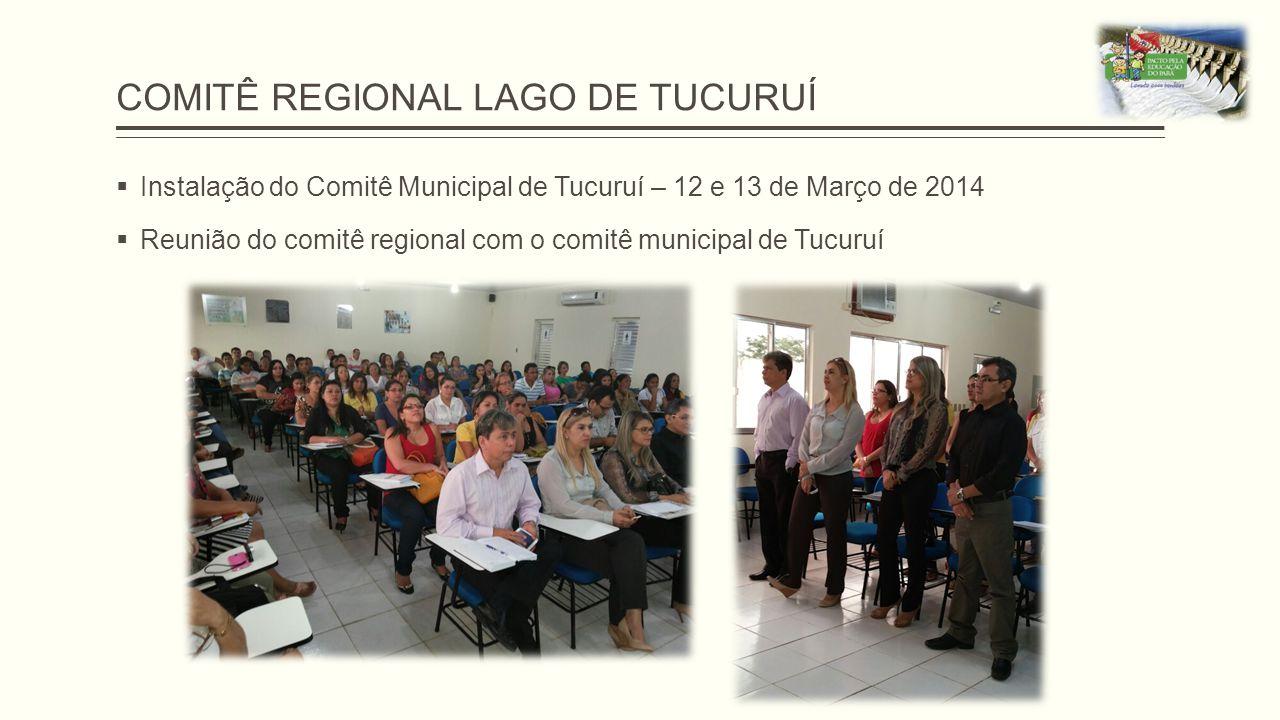 COMITÊ REGIONAL LAGO DE TUCURUÍ  Instalação do Comitê Municipal de Tucuruí – 12 e 13 de Março de 2014  Reunião do comitê regional com o comitê munic