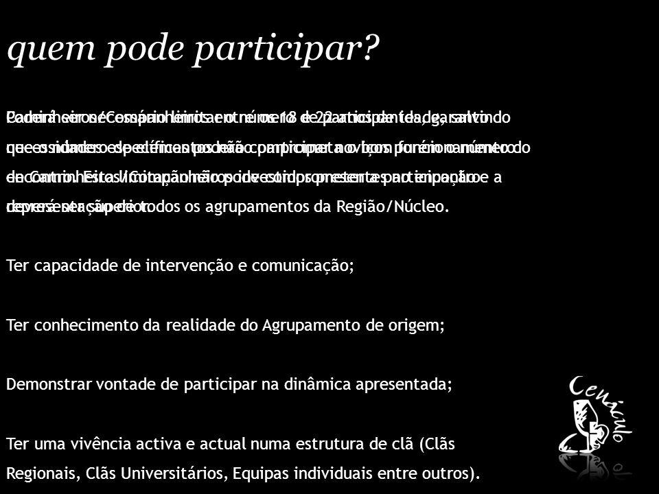 equipa projecto regional/núcleo.A Equipa Organizadora designa-se por Equipa Projecto (EP).