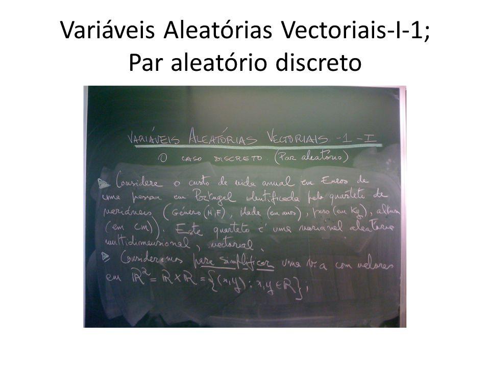 Variáveis Aleatórias Vectoriais-I-2; Definição
