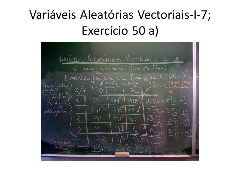 Variáveis Aleatórias Vectoriais-I-7; Exercício 50 a)