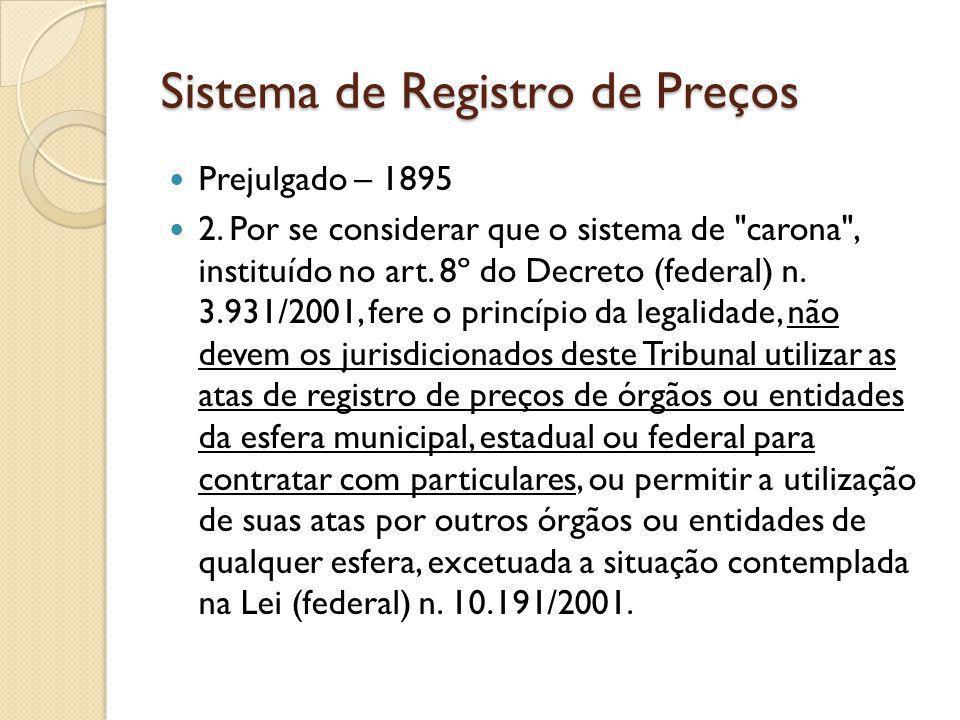 Sistema de Registro de Preços Prejulgado – 1895 2.