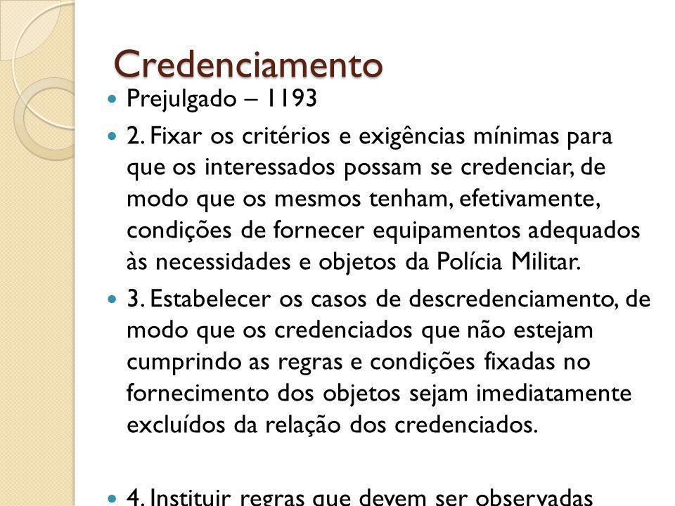 Credenciamento Prejulgado – 1193 2.