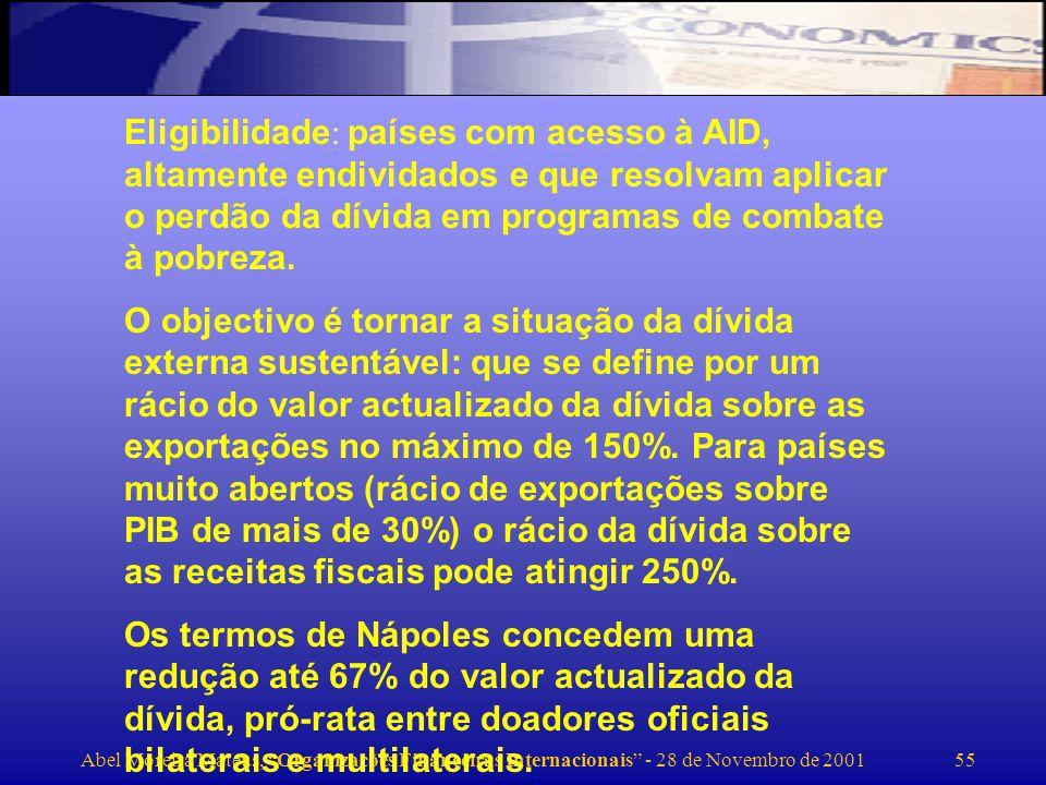 Abel Moreira Mateus, Organizações Financeiras Internacionais - 28 de Novembro de 2001 56