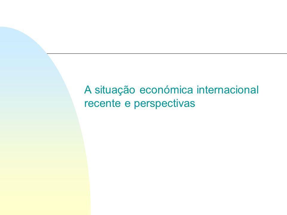 A situação económica internacional recente e perspectivas