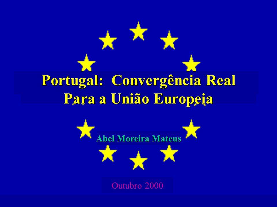 Abel Moreira Mateus, Portugal: Convergência Real para a União Europeia - Outubro 2000 12 Com acentuada desaceleração no crescimento da produtividade da mão-de-obra
