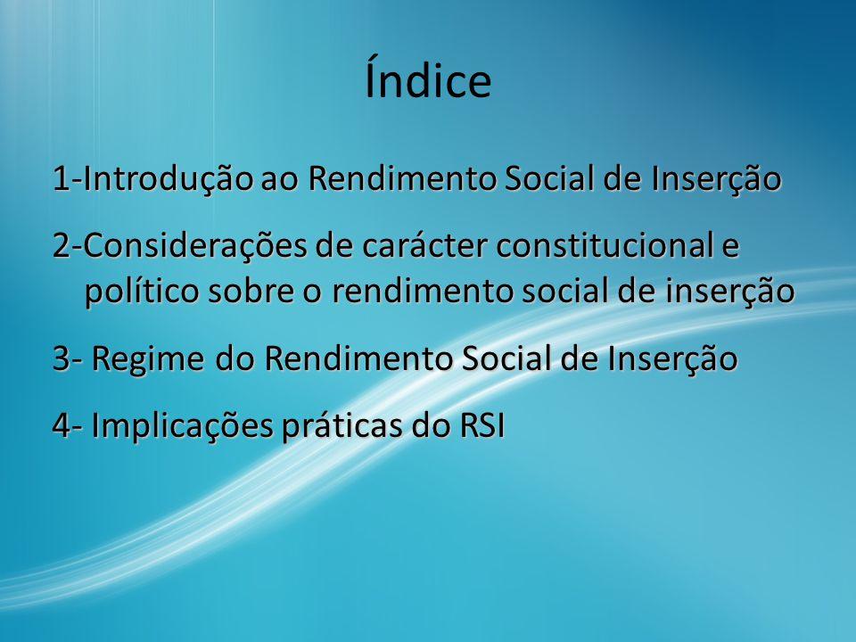 1- Introdução ao Rendimento Social De Inserção