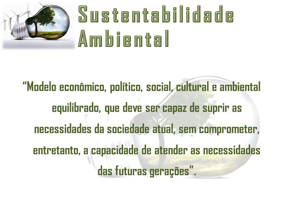 """""""Modelo econômico, político, social, cultural e ambiental equilibrado, que deve ser capaz de suprir as necessidades da sociedade atual, sem compromete"""