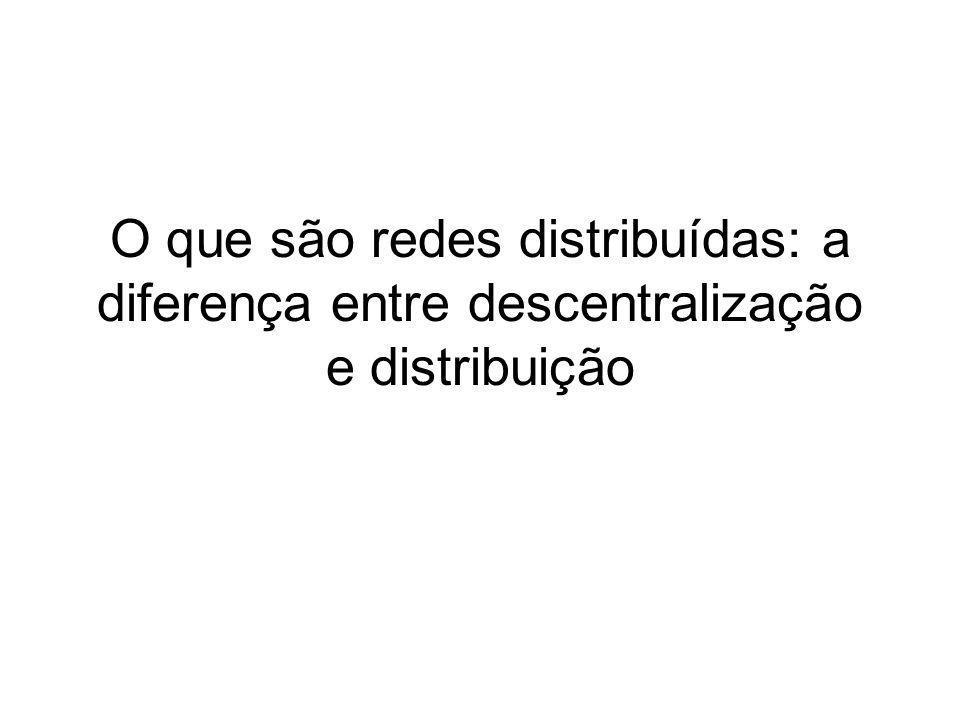 O que são redes distribuídas: a diferença entre descentralização e distribuição