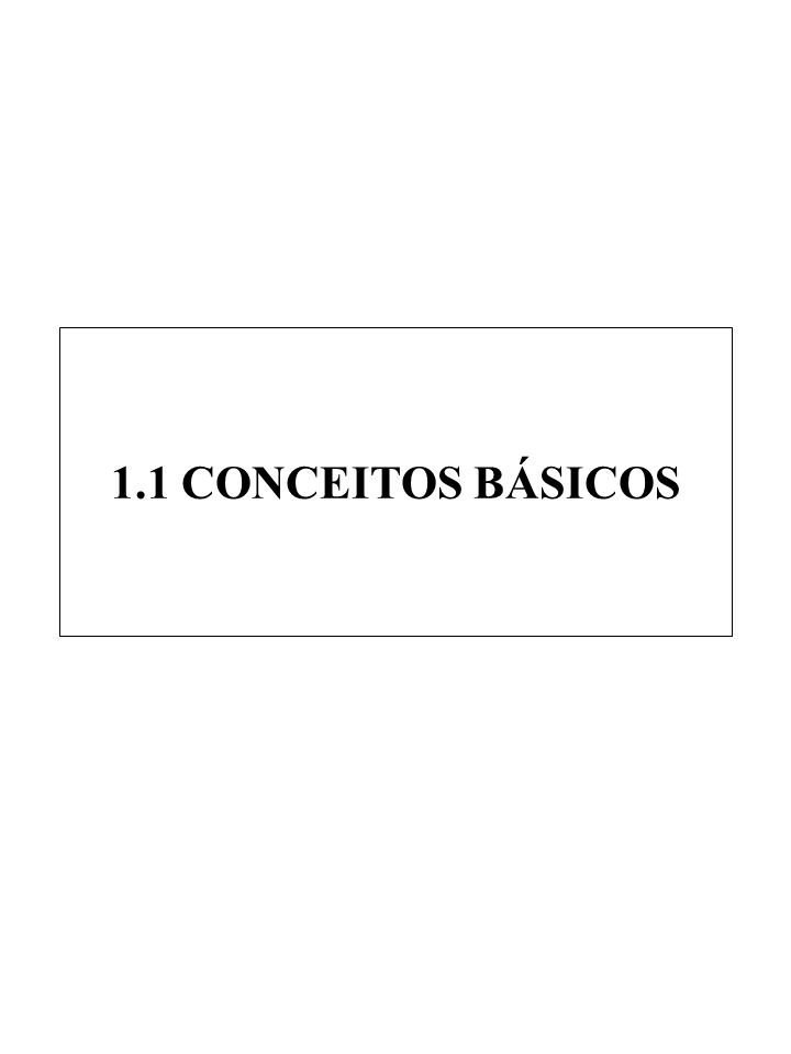 1.1 CONCEITOS BÁSICOS