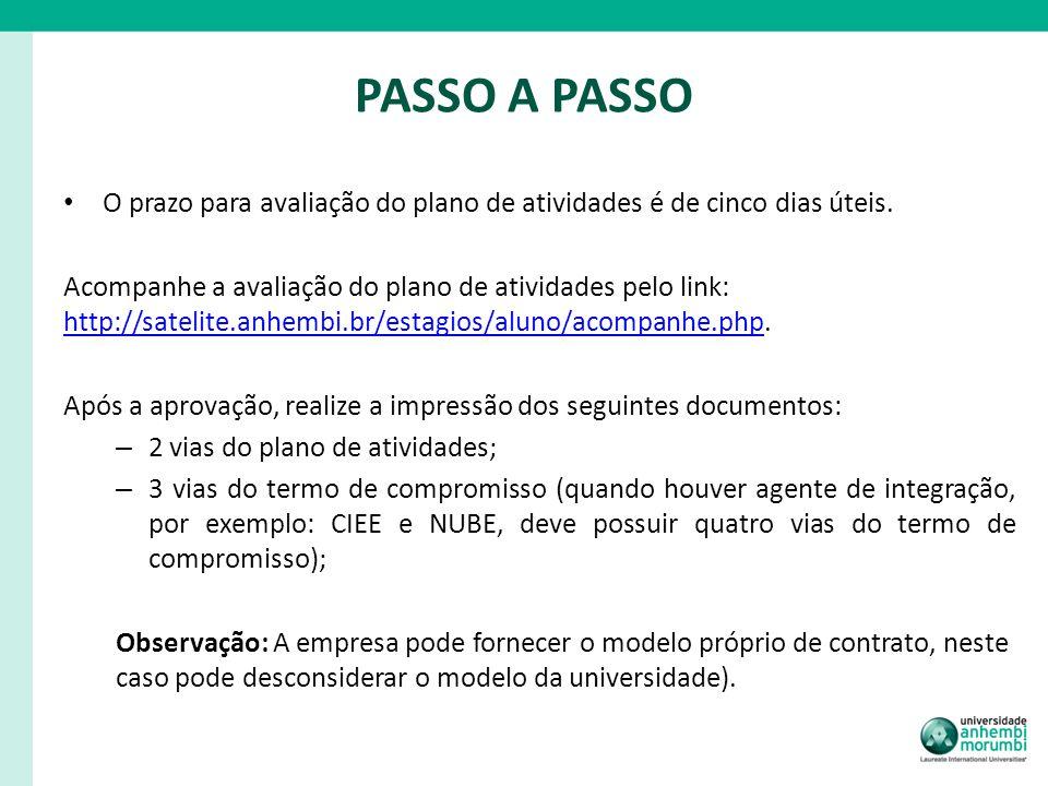 ASSINATURA 1.Os documentos devem ser assinados pela empresa e pelo aluno.