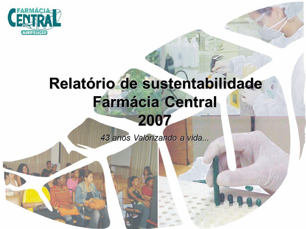 O Relatório de Sustentabilidade da Farmácia Central constitui um instrumento para apresentar a Empresa e suas práticas de gestão, bem como, seu desempenho.