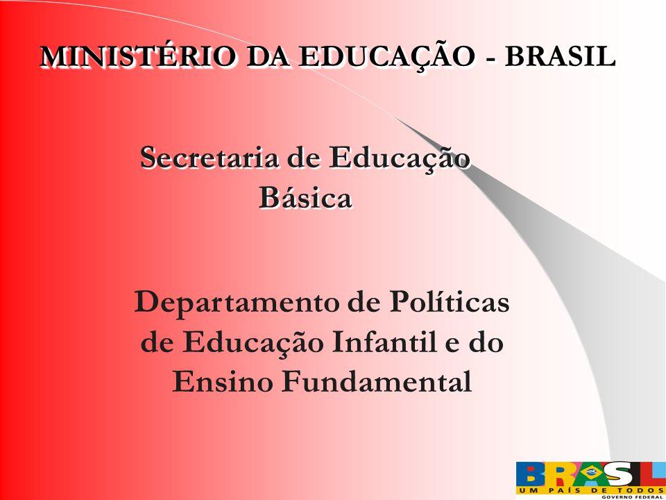 MINISTÉRIO DA EDUCAÇÃO - BRASIL Secretaria de Educação Básica Departamento de Políticas de Educação Infantil e do Ensino Fundamental