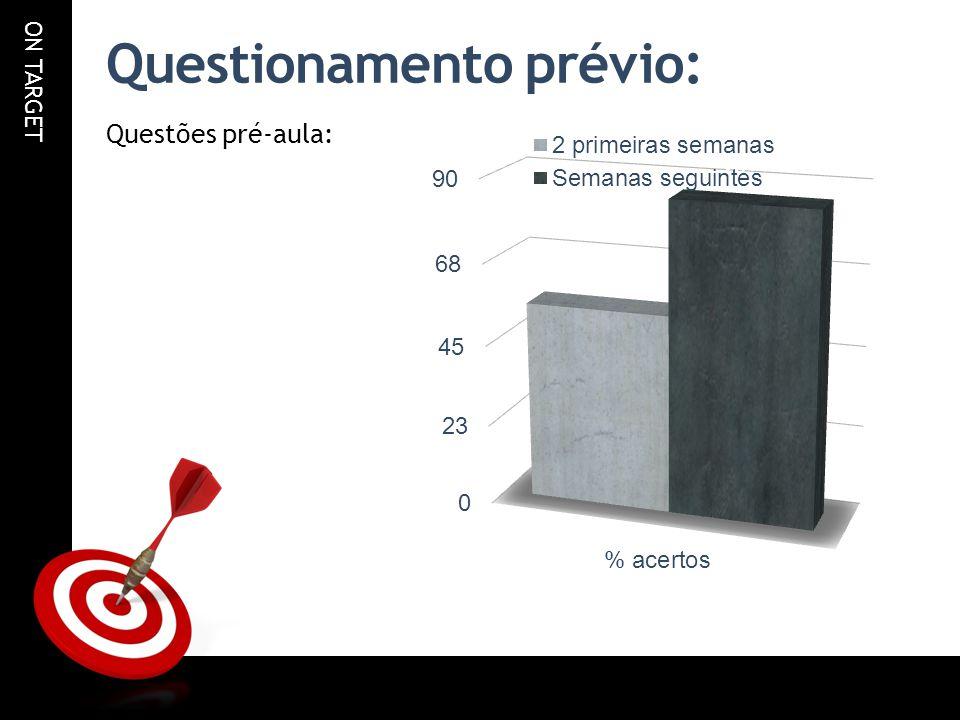 ON TARGET Questionamento prévio: Questões pré-aula: