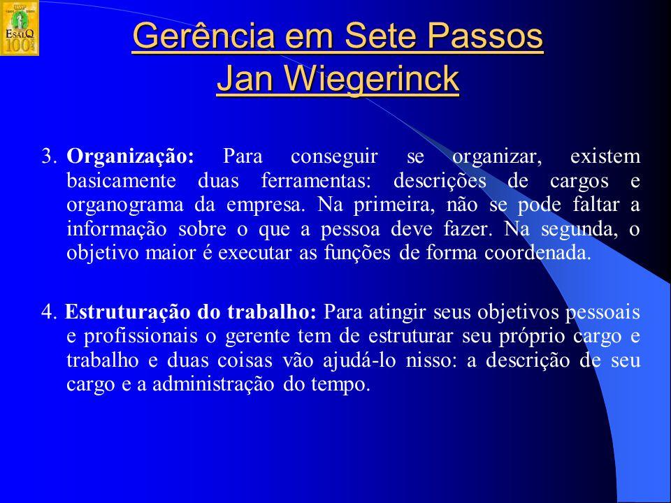 Gerência em Sete Passos Jan Wiegerinck Caminho da Liderança: 1.