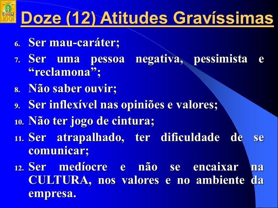 Doze (12) Atitudes Gravíssimas 1.