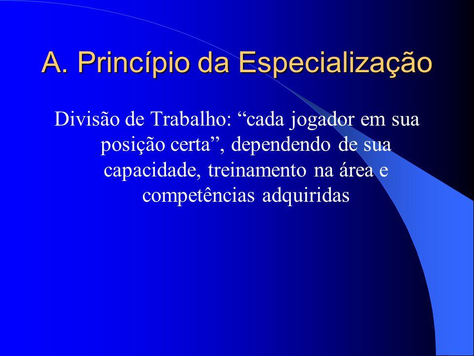 B. Princípio da Definição Funcional Definição clara do organograma Estrutura organizacional; Maneira como a empresa agrupa e reúne pessoas e órgãos de