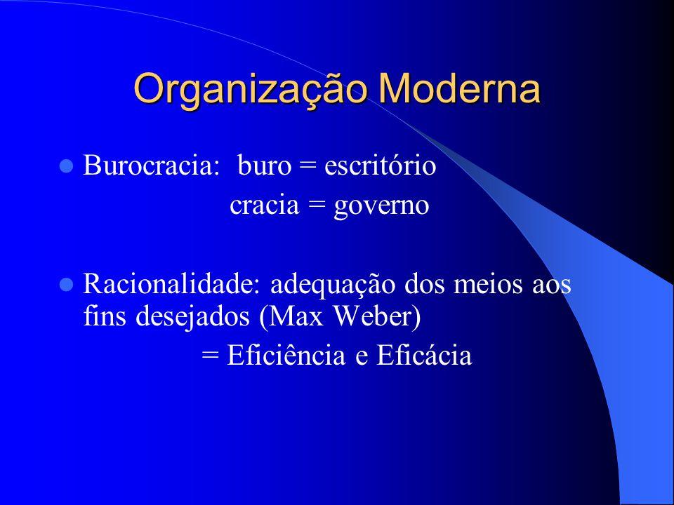 Organização: Conhecimentos Introdutórios Conceitos de Organização Organização = sentido amplo = unidade (sistema) social Sentido restrito = uma das fu