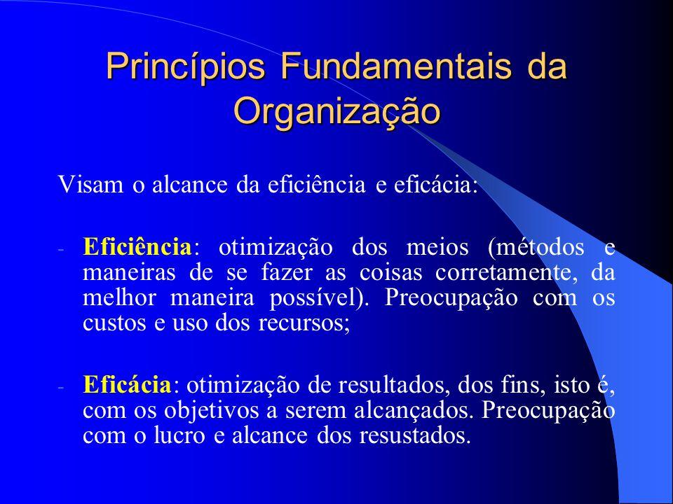 Características da Organização Moderna 4. Formalização das comunicações. 5. Seleção e promoção das pessoas através de critérios de competência (Merito