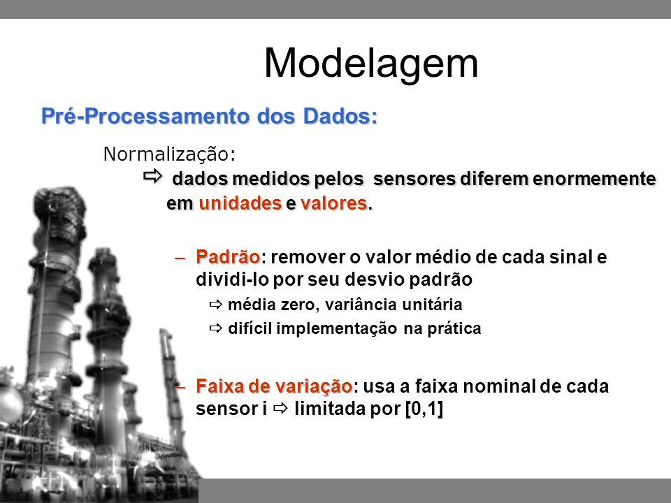 Pré-Processamento dos Dados: Normalização: Modelagem  dados medidos pelos sensores diferem enormemente em unidades e valores.