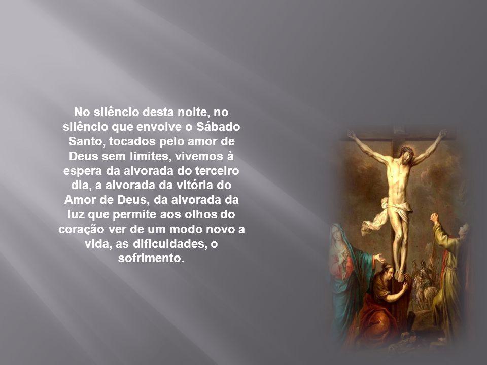 Jesus é o grão de trigo que cai na terra, despedaça-se, rompe-se, morre e por isso pode produzir fruto. Desde o dia em que Cristo foi alçado, a Cruz,