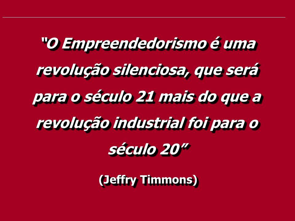 """""""O Empreendedorismo é uma revolução silenciosa, que será para o século 21 mais do que a revolução industrial foi para o século 20"""" (Jeffry Timmons) (J"""