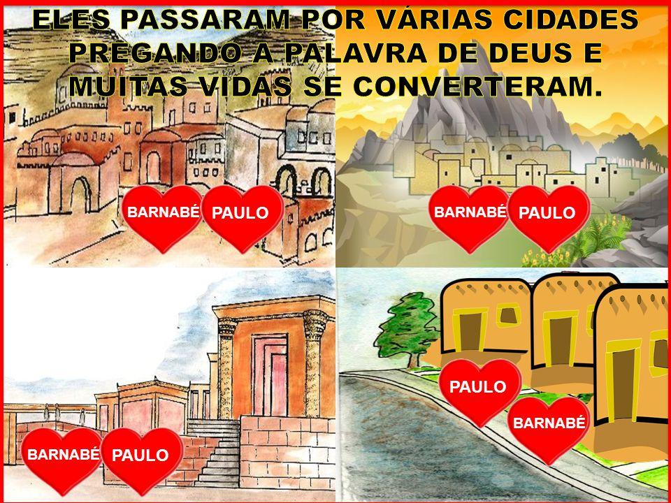 PAULO E BARNABÉ TAMBÉM FORAM ATÉ A ILHA DE PAFOS PARA PREGAREM A PALAVRA DE DEUS PAULO ELIMAS SÉRGIO PAULO BARNABÉ E O PROCÔNSUL (AUTORIDADE) SÉRGIO PAULO OUVIA ATENTAMENTE O QUE PAULO FALAVA.