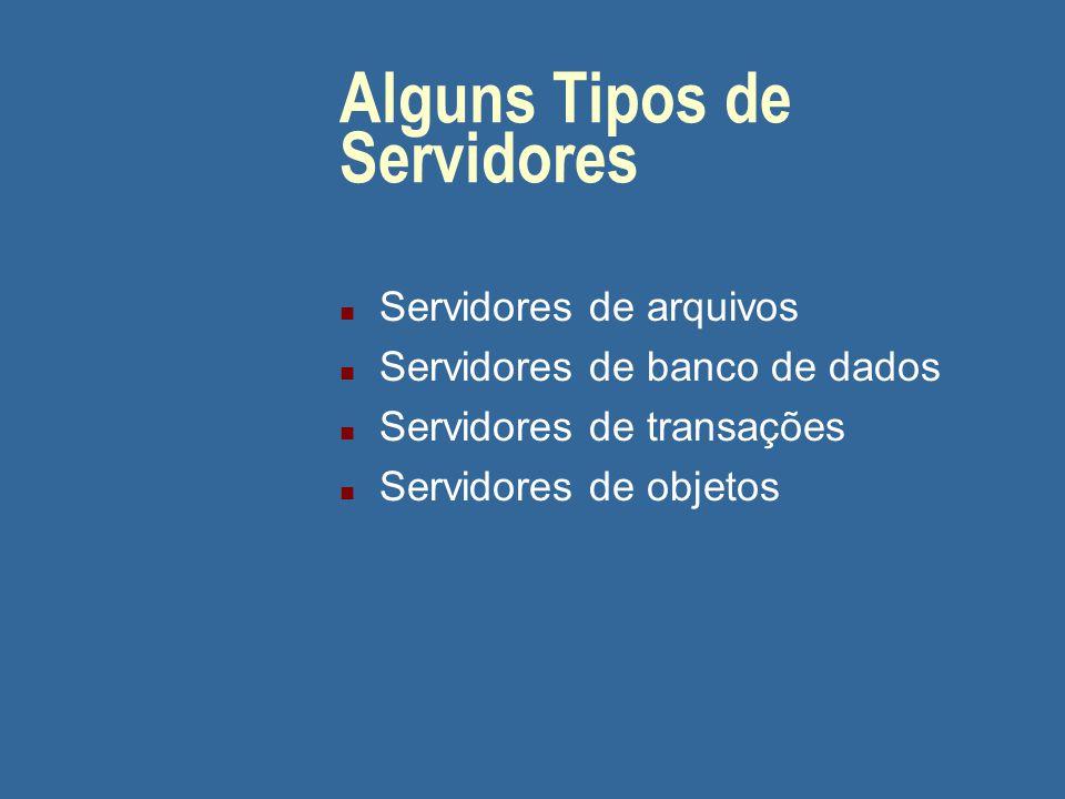 Cliente/Servidor: Características (cont.) n Compartilhamento de recursos n Transparência de localização n O software cliente/servidor ideal é independ