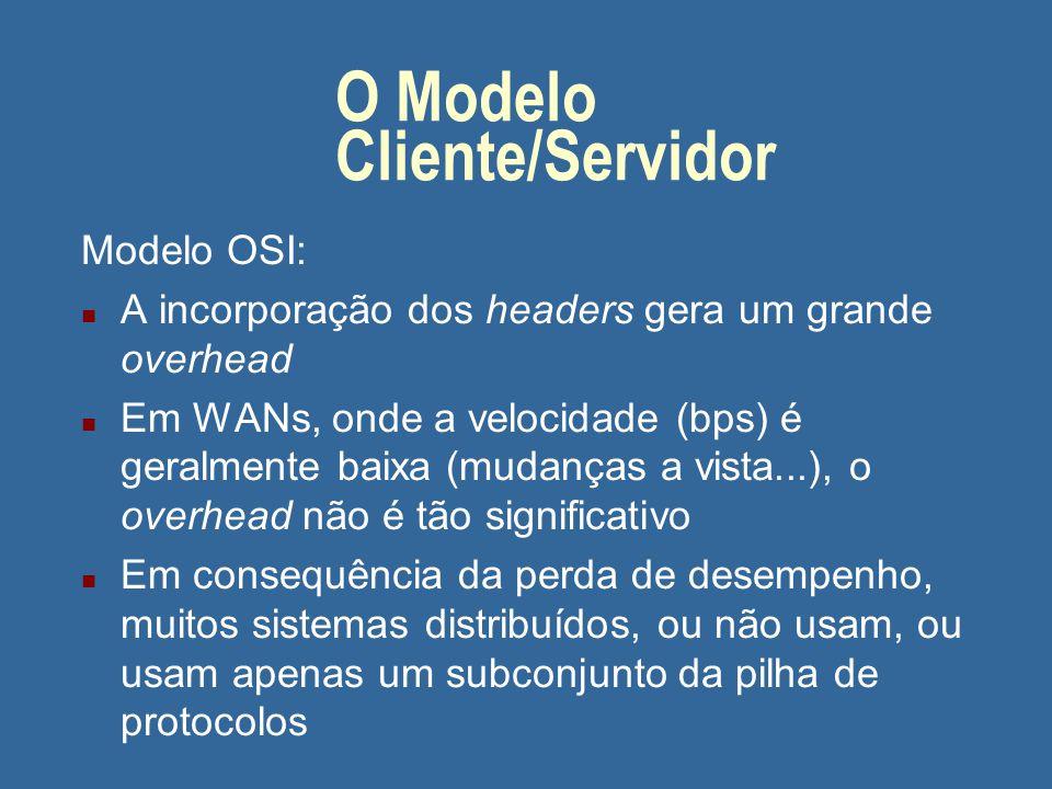 Tópicos n O Modelo Cliente/Servidor
