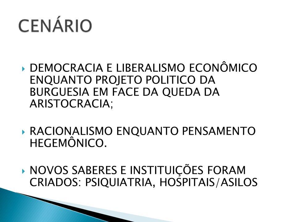  DEMOCRACIA E LIBERALISMO ECONÔMICO ENQUANTO PROJETO POLITICO DA BURGUESIA EM FACE DA QUEDA DA ARISTOCRACIA;  RACIONALISMO ENQUANTO PENSAMENTO HEGEM