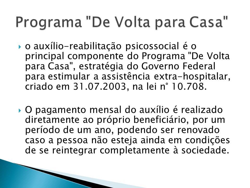  o auxílio-reabilitação psicossocial é o principal componente do Programa