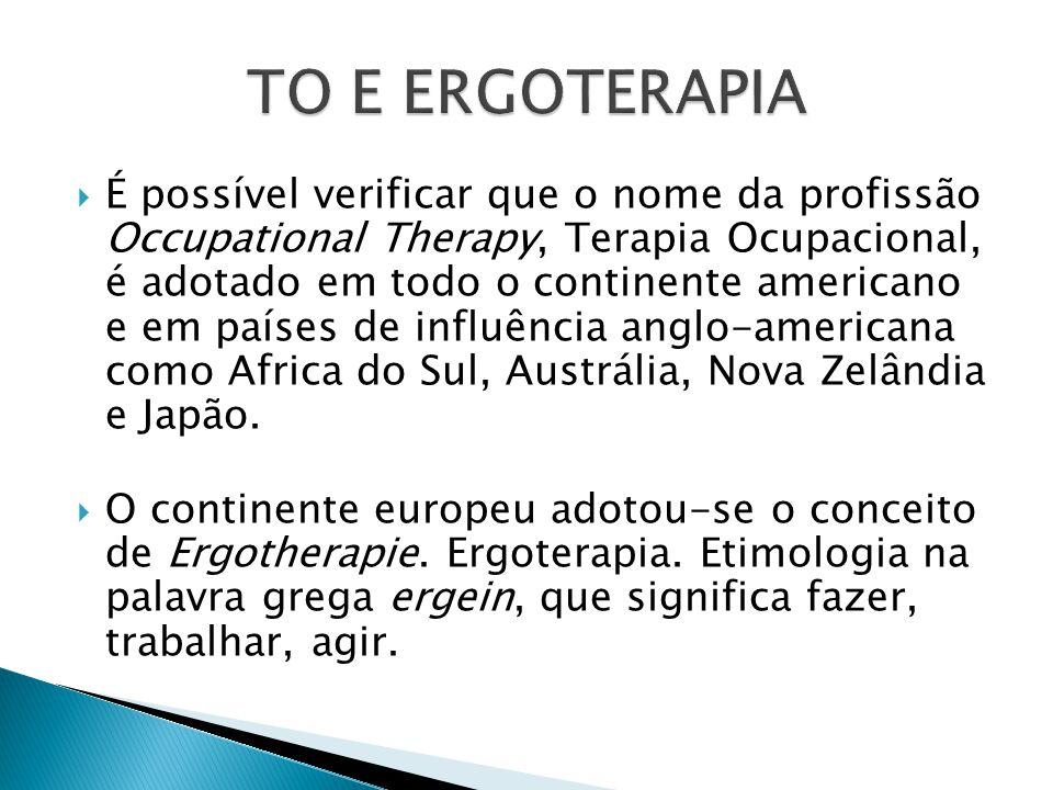 Entidades técnico-científicas criadas nas regiões  Entidade nacional ATOB – criada e extinta  COFFITO, criado em 1975, organizou as unidades regionais (CREFITO's)  1980 – primeiro sindicato da categoria