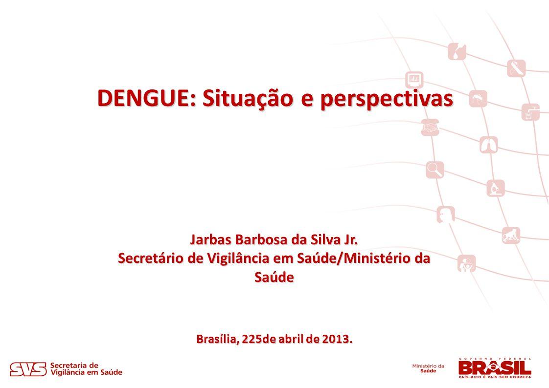 DENGUE: Situação e perspectivas Brasília, 225de abril de 2013. Jarbas Barbosa da Silva Jr. Secretário de Vigilância em Saúde/Ministério da Saúde