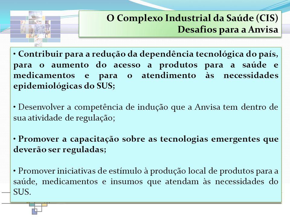 Contribuir para a redução da dependência tecnológica do país, para o aumento do acesso a produtos para a saúde e medicamentos e para o atendimento às