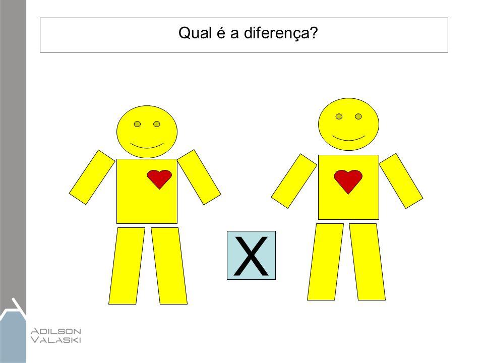 Qual é a diferença? X