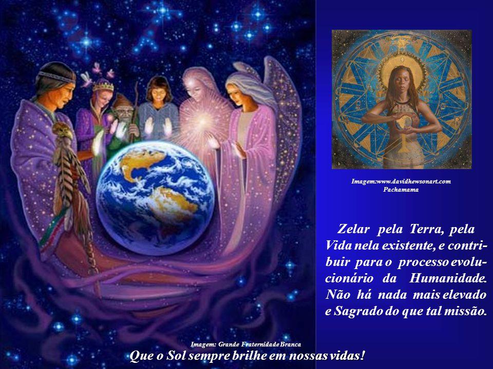 """Que o Sol sempre brilhe em nossas vidas! Imagem:www.davidhewsonart.com Pachamama Agradeço todos os dias por compreender que um """"Filho do Sol"""" vem para"""