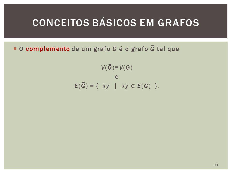 CONCEITOS BÁSICOS EM GRAFOS 11