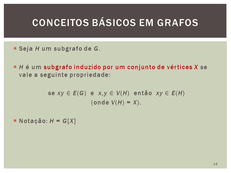CONCEITOS BÁSICOS EM GRAFOS 14