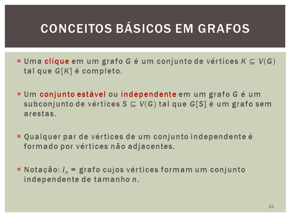 CONCEITOS BÁSICOS EM GRAFOS 23