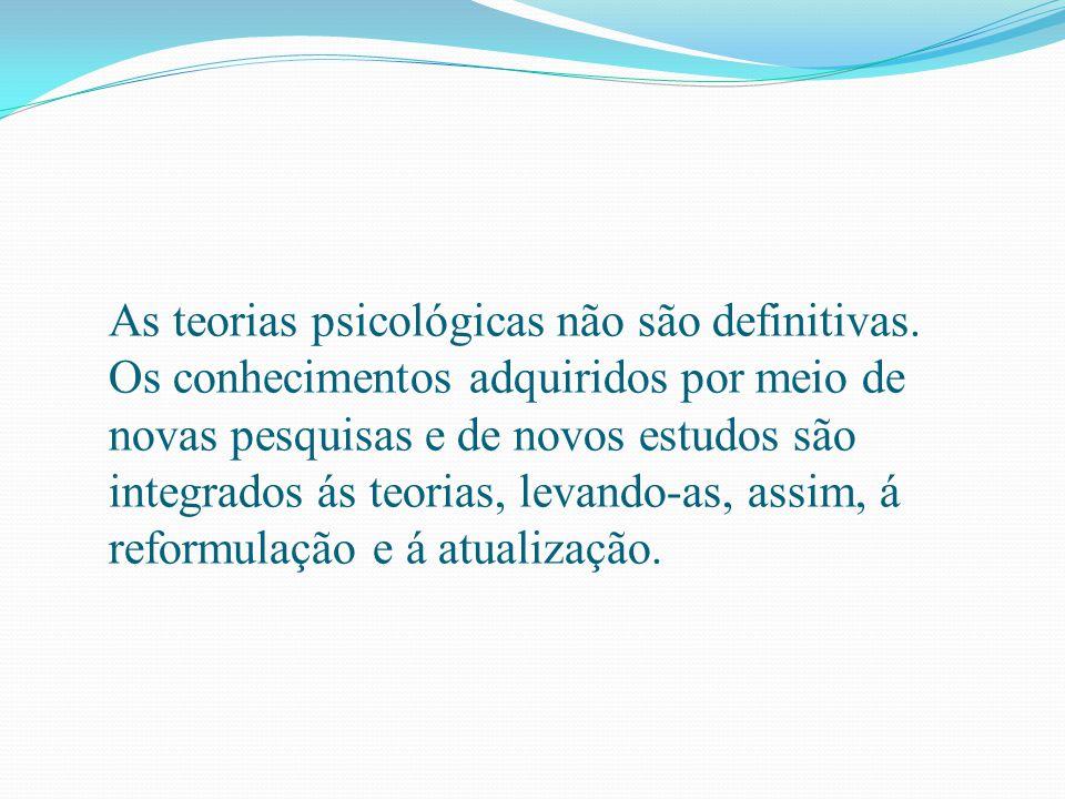 As teorias psicológicas não são definitivas. Os conhecimentos adquiridos por meio de novas pesquisas e de novos estudos são integrados ás teorias, lev