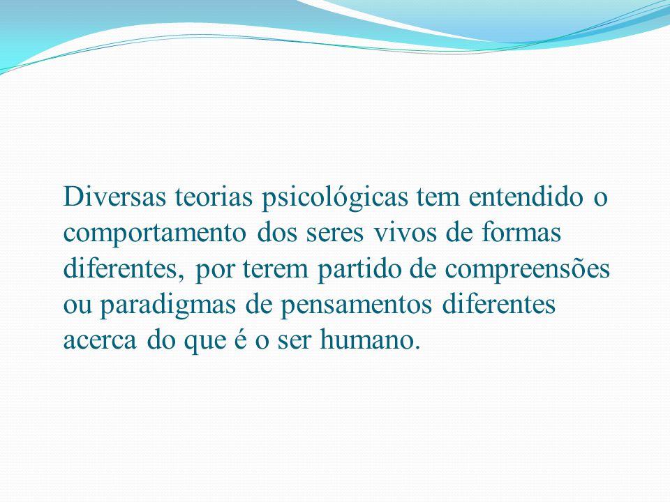 Diversas teorias psicológicas tem entendido o comportamento dos seres vivos de formas diferentes, por terem partido de compreensões ou paradigmas de p