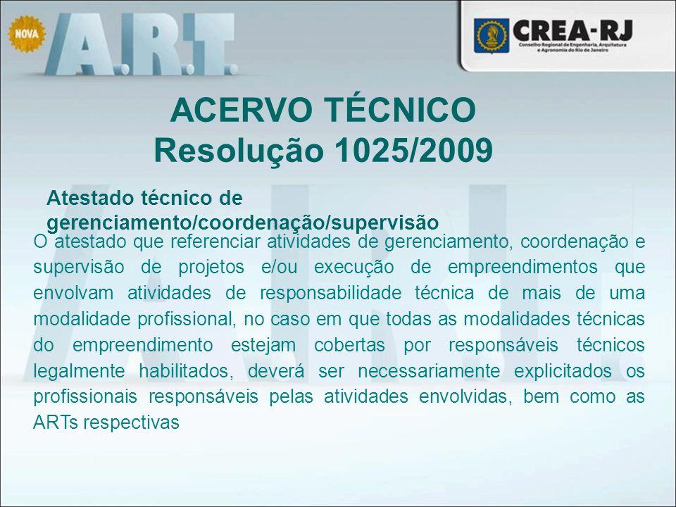 Atestado técnico de gerenciamento/coordenação/supervisão O atestado que referenciar atividades de gerenciamento, coordenação e supervisão de projetos