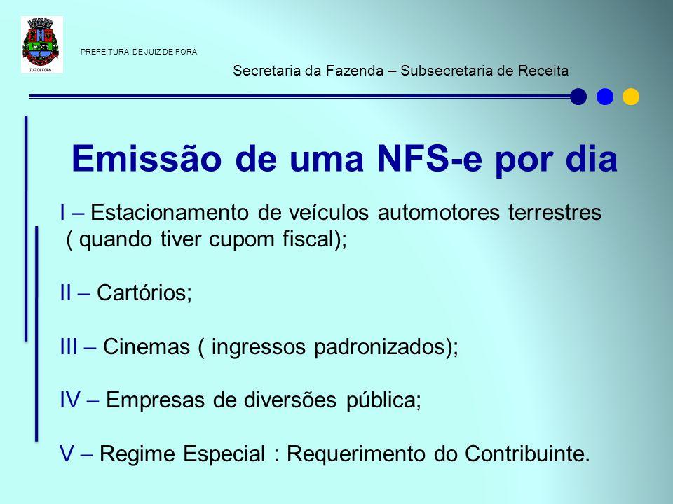 PREFEITURA DE JUIZ DE FORA Secretaria da Fazenda – Subsecretaria de Receita I – Estacionamento de veículos automotores terrestres ( quando tiver cupom