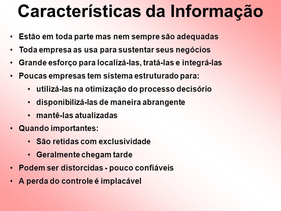 Informações que os gerentes gostariam de ter Informações que os gerentes realmente precisam Funções de um SIM: Identificação das Informação Necessárias