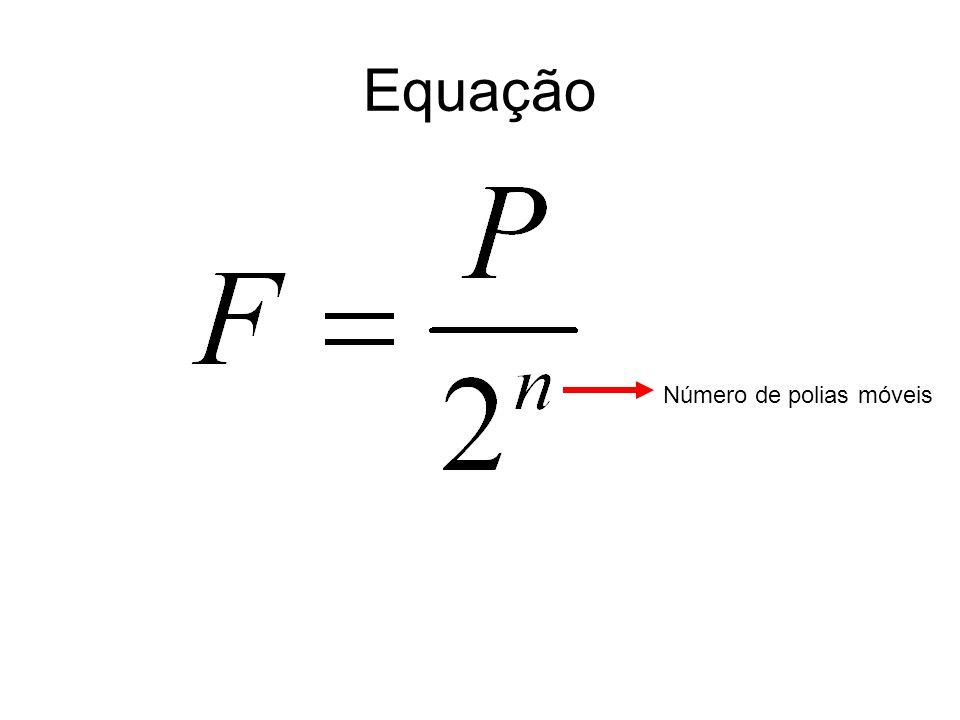 Equação Número de polias móveis