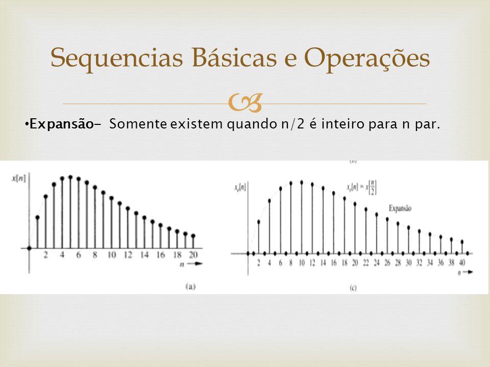  Expansão- Somente existem quando n/2 é inteiro para n par.