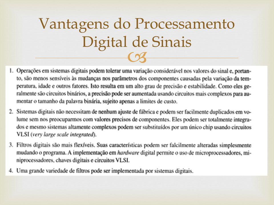  Vantagens do Processamento Digital de Sinais